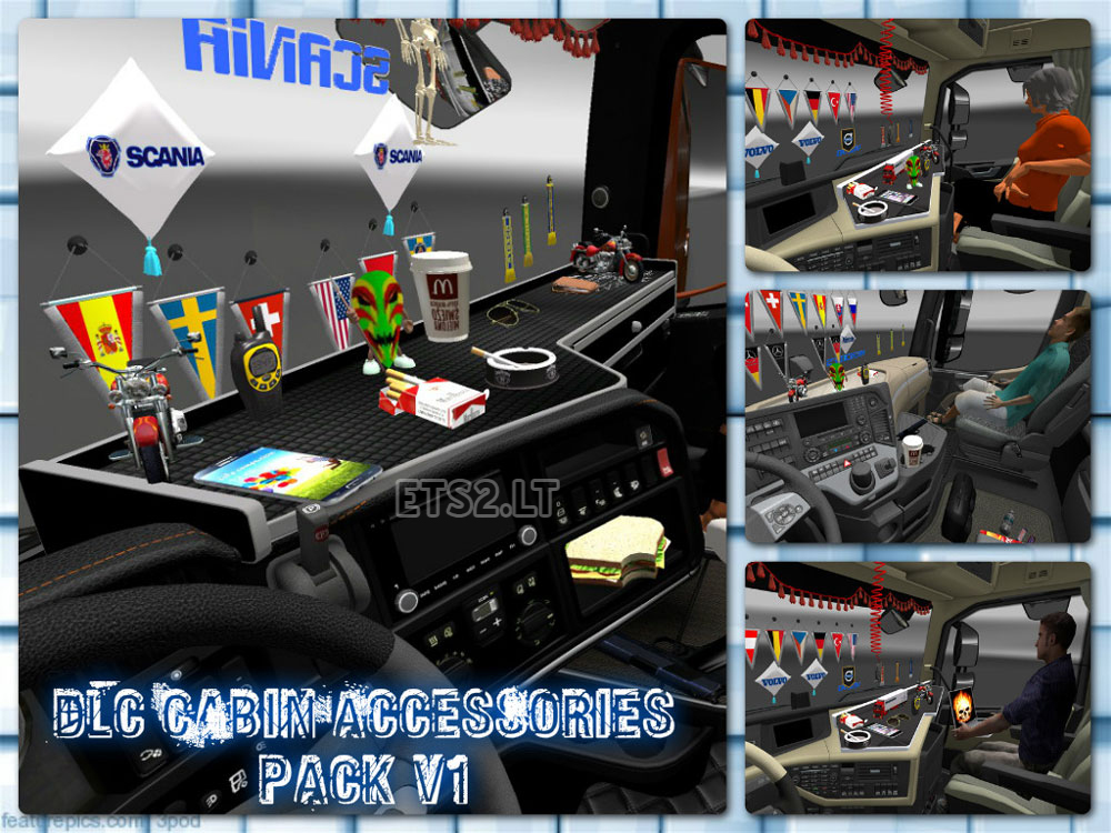 Dlc cabin accessories pack v 1 0 ets 2 mods for Accessoire deco