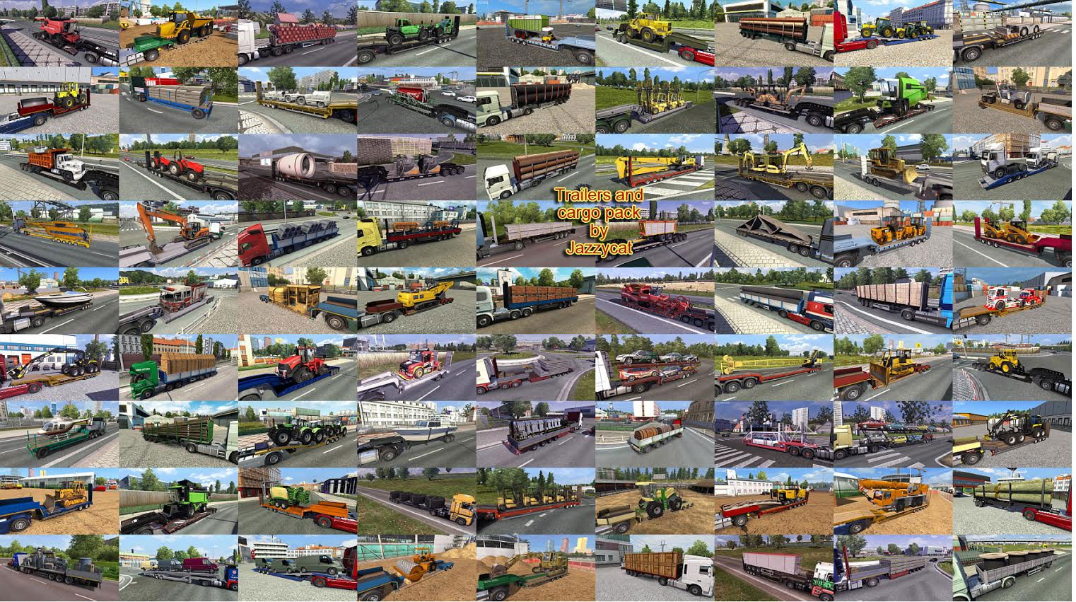 Trailers and Cargo Pack by Jazzycat v3 6 1 | ETS 2 mods