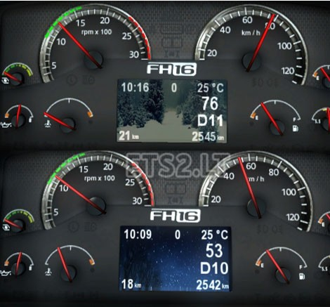 Animated-Volvo-FH-Classic-Dashboard