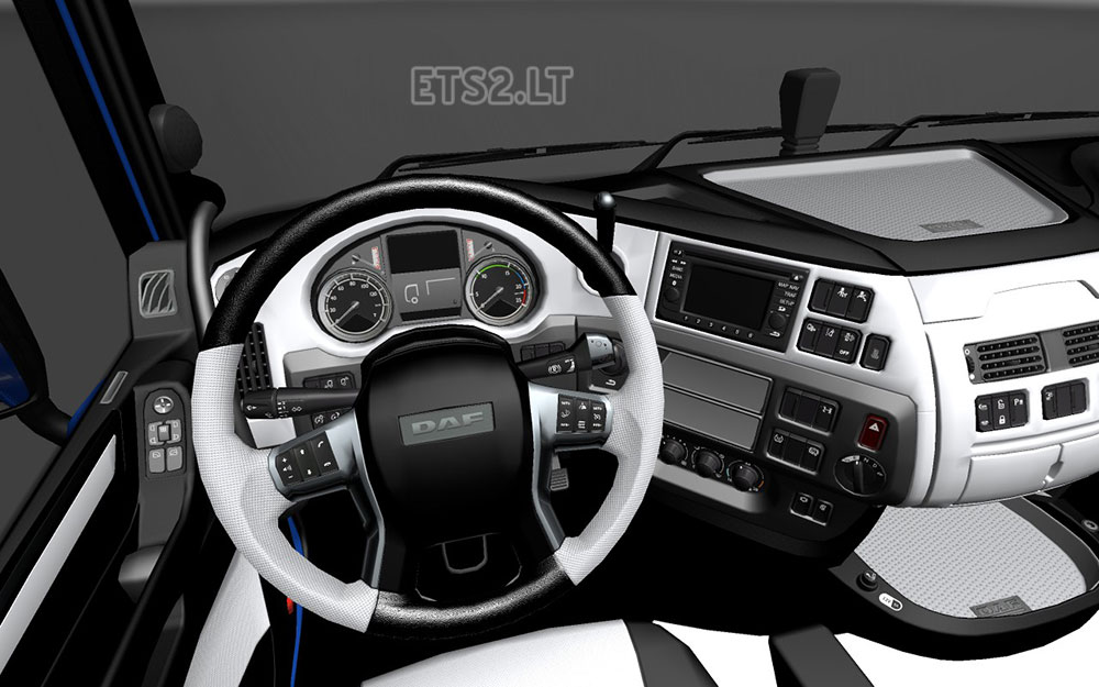 Daf Xf Euro 6 Black And White Interior Ets 2 Mods