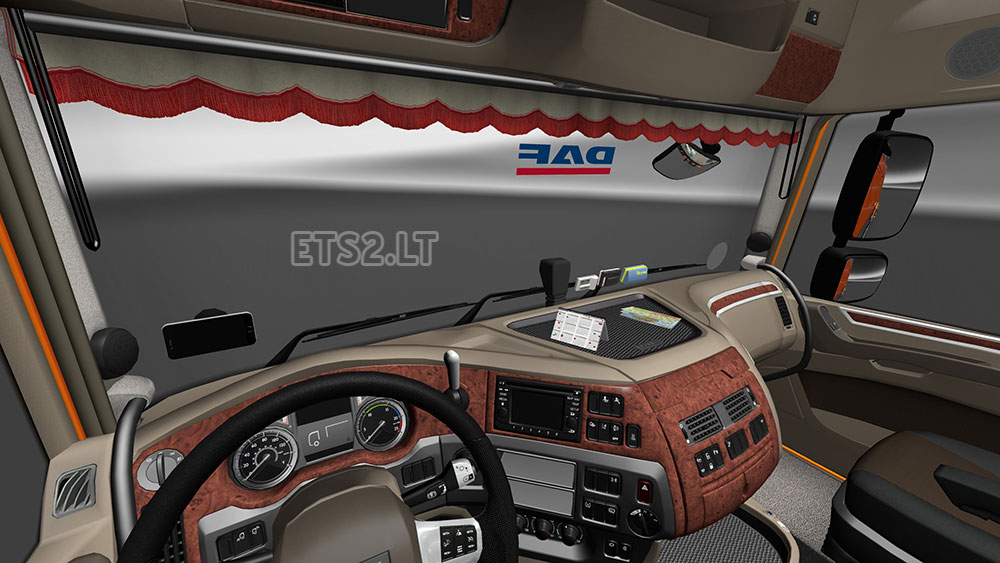 Daf xf euro 6 interior exterior rework v 1 1 ets 2 mods for Daf euro 6 interieur