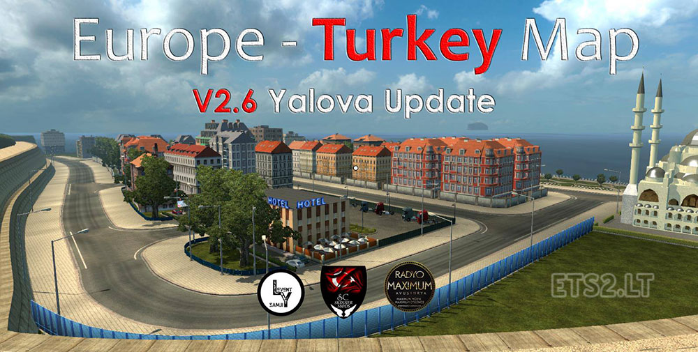 Map Of Europe And Turkey.Europe Turkey Map V 2 6 Ets 2 Mods