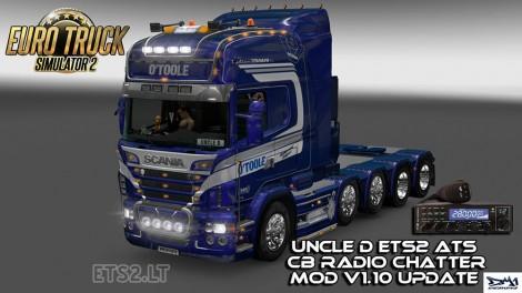 Uncle D ETS2 ATS CB Radio Chatter v 1 10 | ETS 2 mods