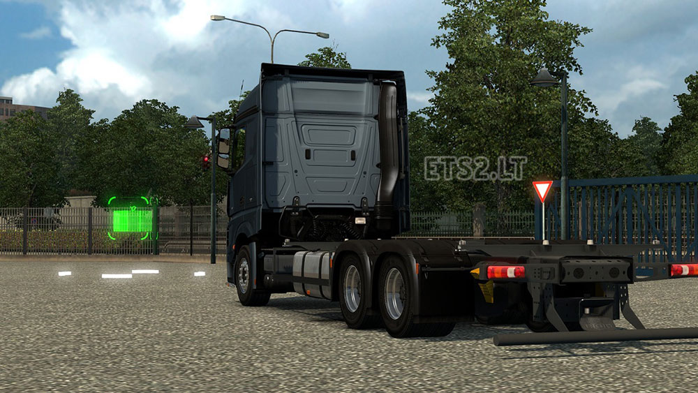Mercedes Actros MP4 BDF empty Chassi  ETS 2 mods