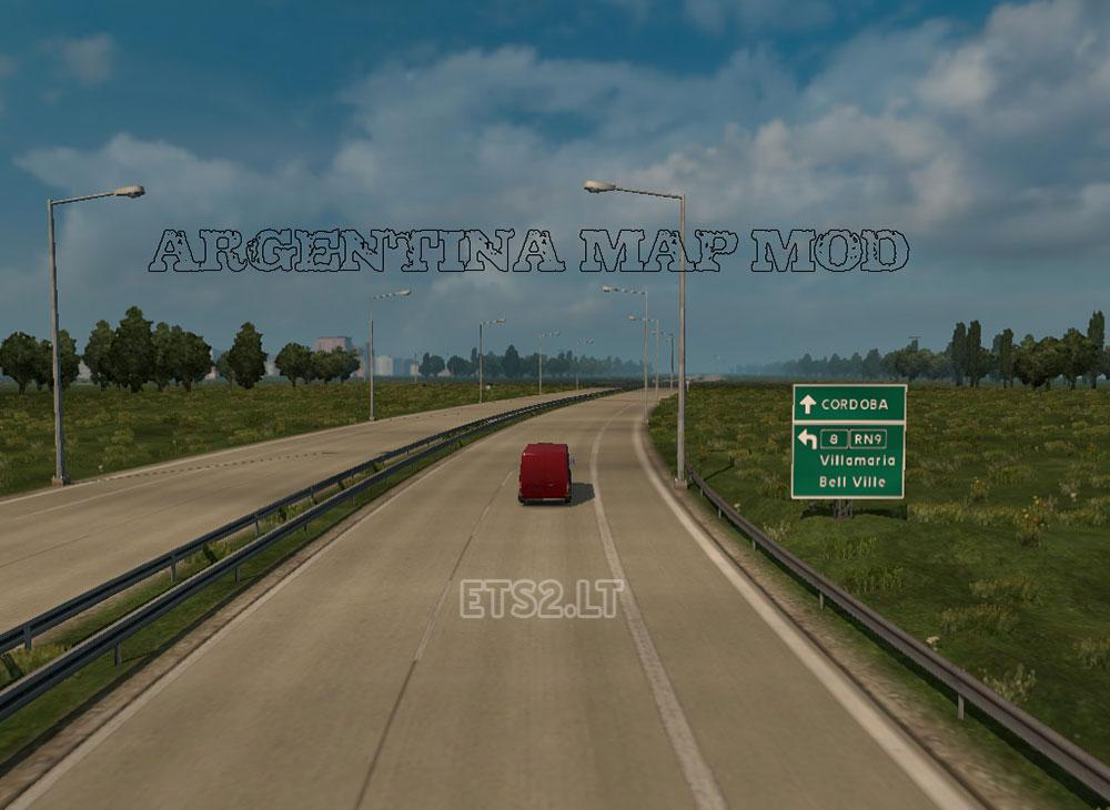Argentina ETS Mods - Argentina map ets2