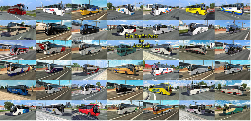 Bus Traffic Pack by Jazzycat v 1 3 | ETS 2 mods