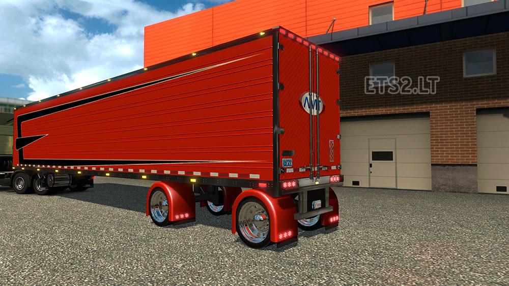 Spread Axle Trailer Weights : Great dane spread axle new fenders trailer ets mods