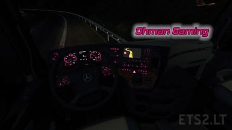 Mercedes benz mp4 pink dashboard lights ets 2 mods for Mercedes benz dashboard lights not working