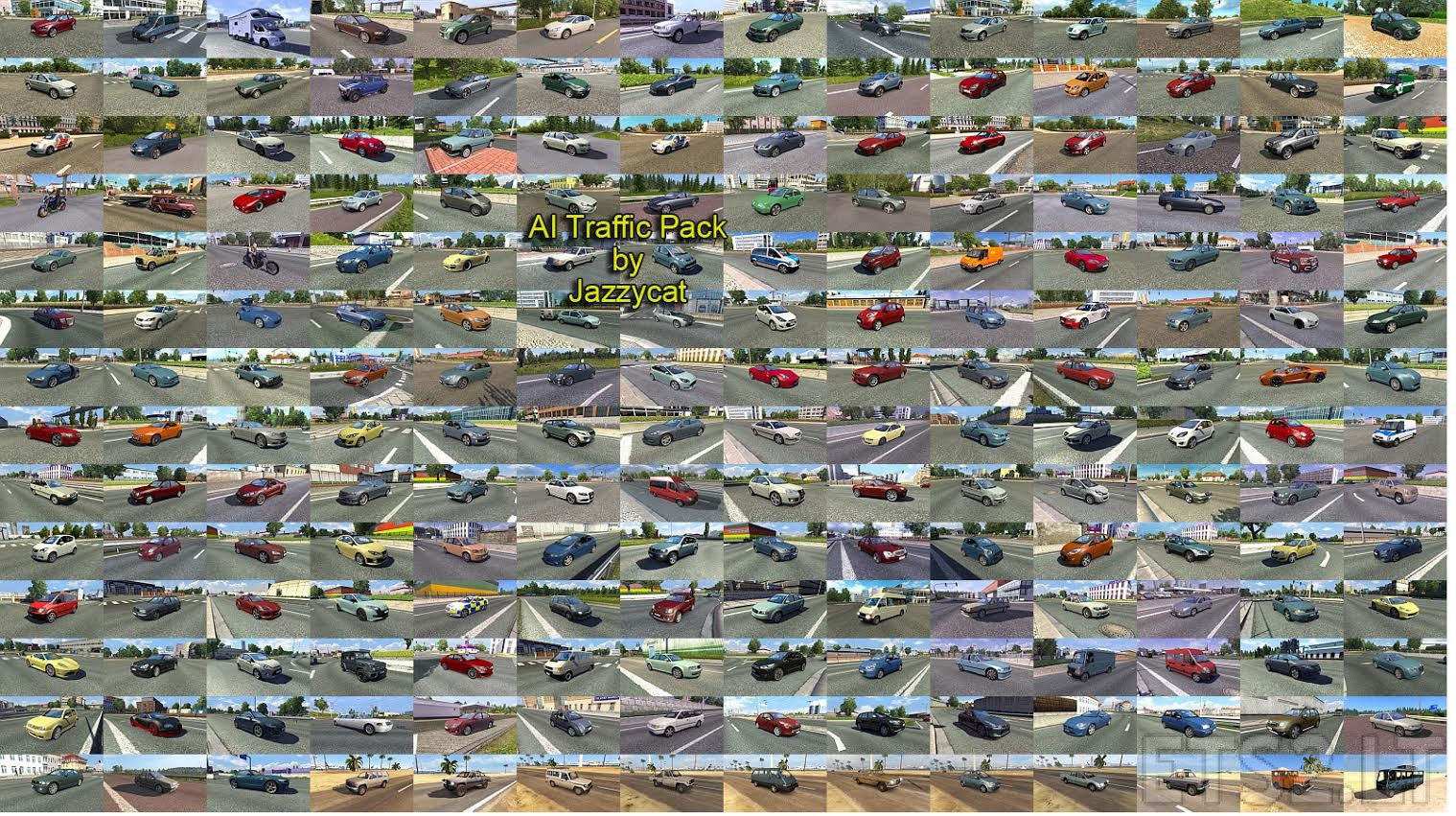 AI Traffic Pack by Jazzycat v3 5 | ETS 2 mods