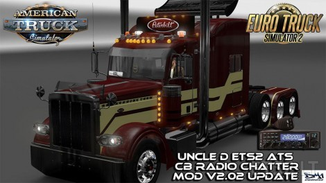 UNCLE D ETS2 ATS CB RADIO CHATTER MOD V2 02 | ETS 2 mods