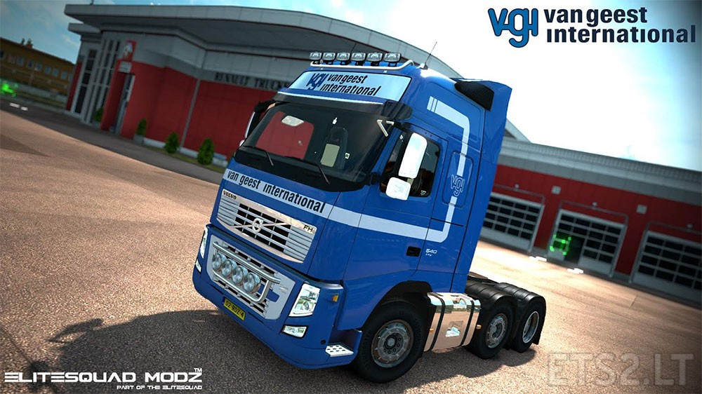Van Geest International Volvo FH13 Peerke skin + lightbox | ETS 2 mods