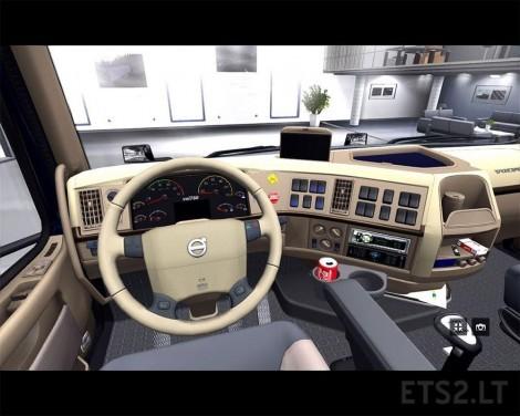 Retextured interior Volvo VNL64 T 780 | ETS 2 mods