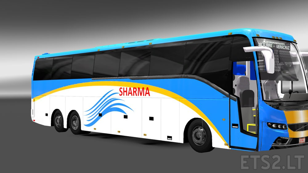 Facelifted Indian Volvo Bus Mod With Skins Of Volvo B9r