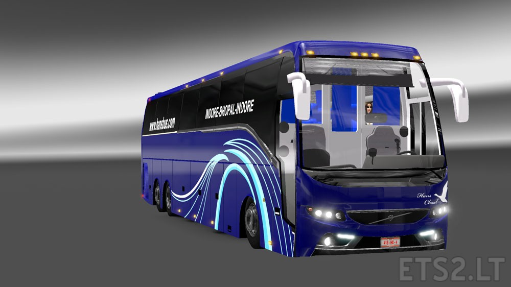 Facelifted Indian Volvo Bus mod with Skins of Volvo B9R and