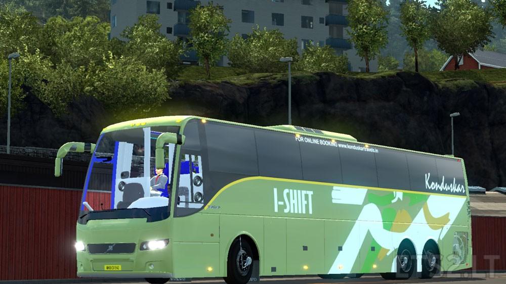 Indian Volvo Bus mod with Skins of Volvo B7R, B9R, B11R +