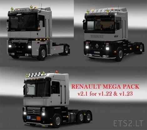 renault truck mega pack ets 2 mods. Black Bedroom Furniture Sets. Home Design Ideas
