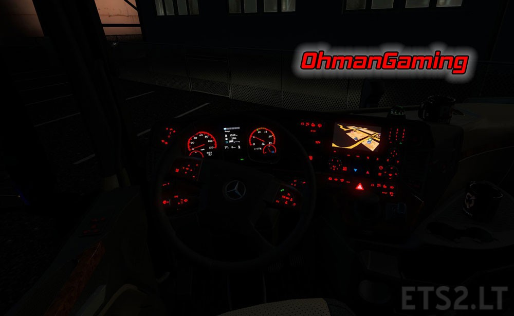 Mercedes benz mp4 red dashboard lights ets 2 mods for Mercedes benz dashboard lights not working