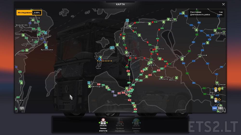 VladzzGs Map Addon For ProMods V Euro Truck Simulator - Estonia map download