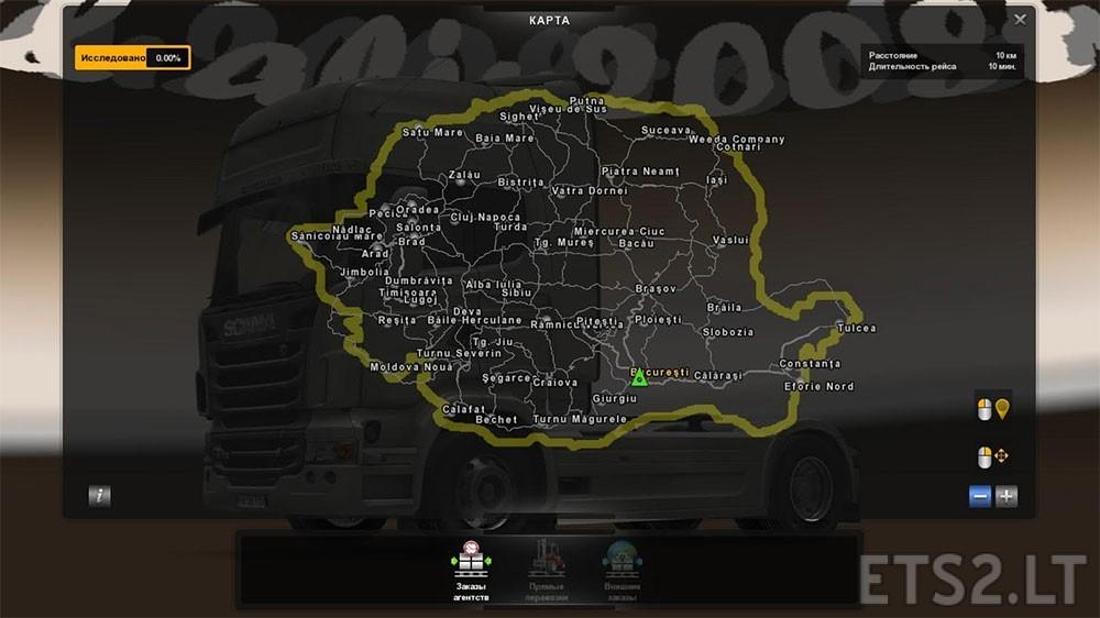 romanian-map