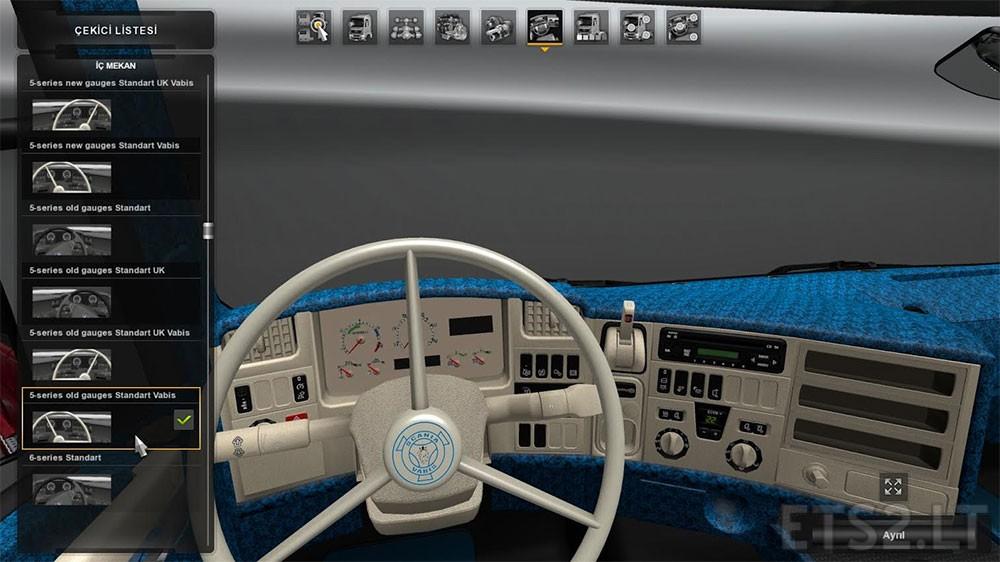 Scania rjl white interior ets 2 mods - Scania Rjl Interior White Amp Blue Download Free Game Mods