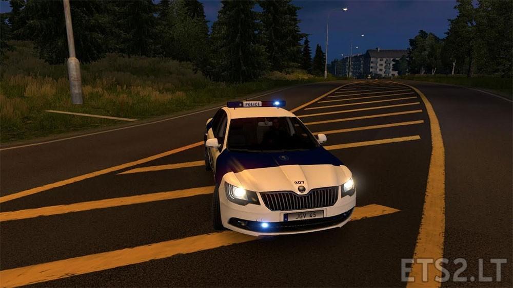 Finnish Police Skoda Superb | ETS 2 mods