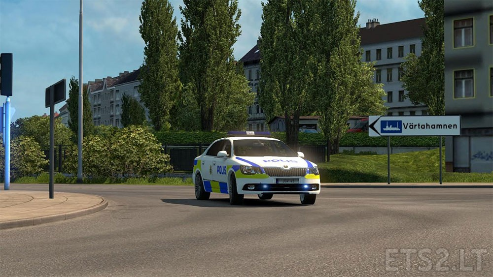 Swedish Police Skoda Superb | ETS 2 mods