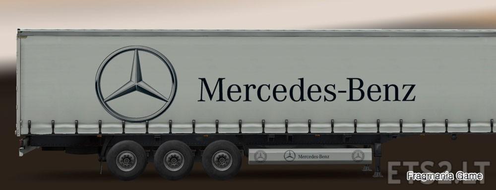 Mercedes benz trailer skin