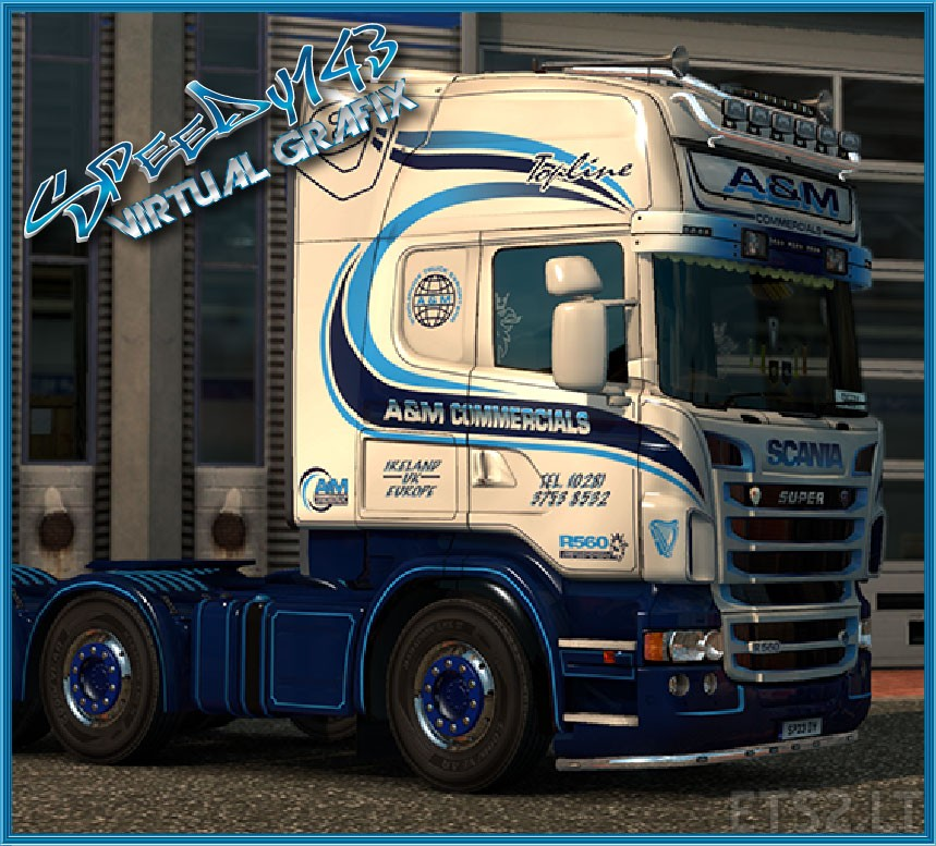Scania Rjl A Amp M Commercials Skin Ets 2 Mods