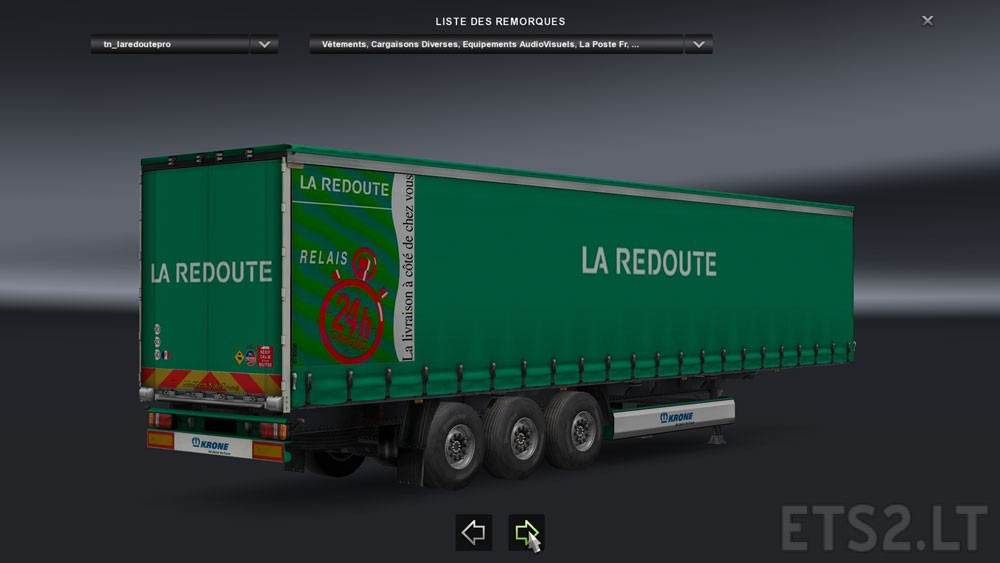 french trailers la redoute ets 2 mods. Black Bedroom Furniture Sets. Home Design Ideas