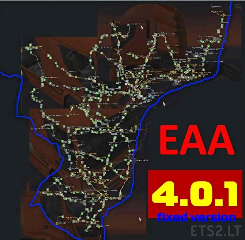Mapa Bus EAA V F ETS Mods - Argentina map ets2