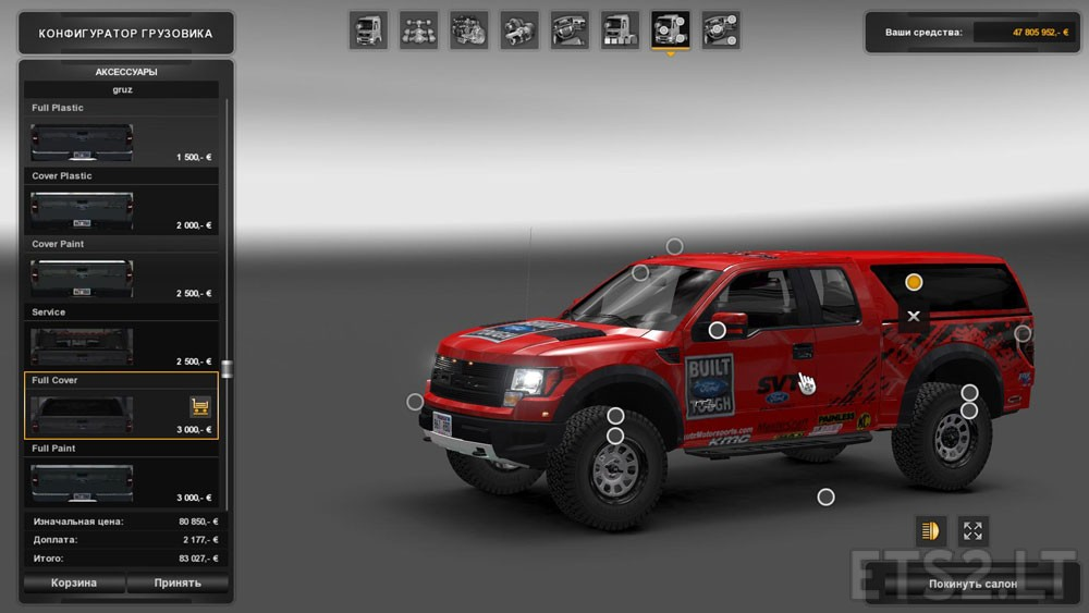 ford f150 svt raptor v 2 0 for ets 2 mods. Black Bedroom Furniture Sets. Home Design Ideas