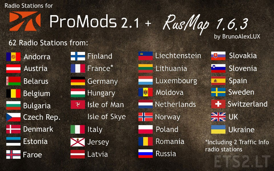 Radio Stations for Promods 2 1 + RusMap 1 6 3 | ETS 2 mods