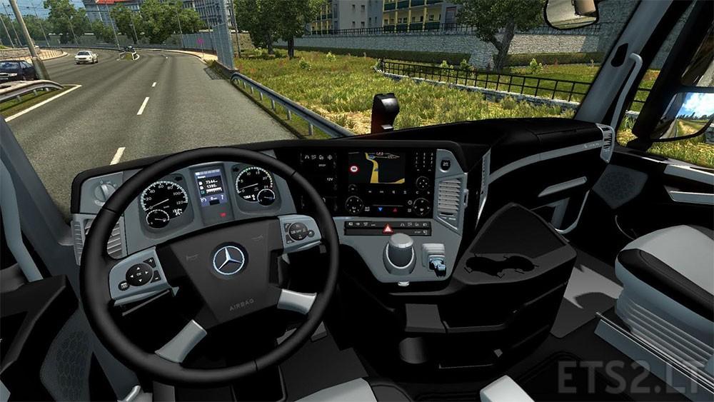 mercedes benz mp4 grey black interior ets 2 mods. Black Bedroom Furniture Sets. Home Design Ideas