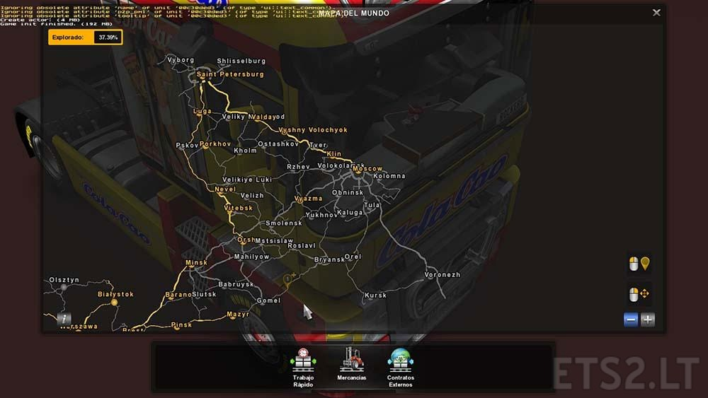 RusMap Zoom FIX For V XX ETS Mods - R us map