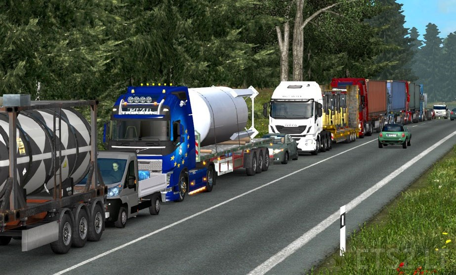Traffic Density and Speed Limits v 2 0 for 1 25 | ETS 2 mods