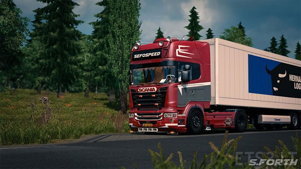 Unique SCANIA r620 V8 | ETS 2 mods MO23