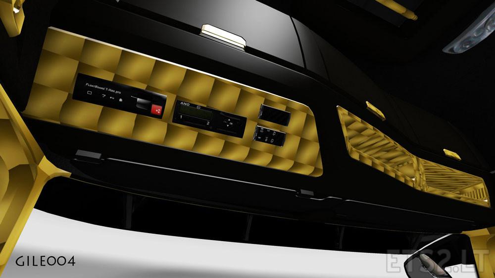 mercedes benz mp4 black gold interior ets 2 mods. Black Bedroom Furniture Sets. Home Design Ideas