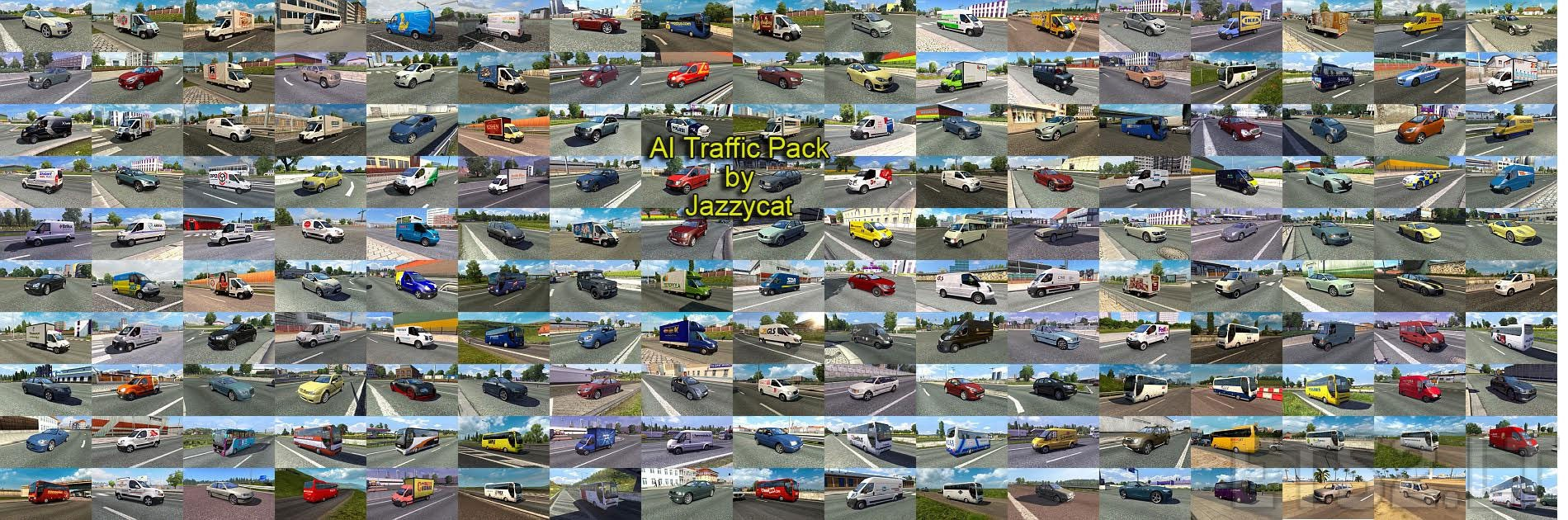 AI Traffic Pack by Jazzycat v4 0 | ETS 2 mods