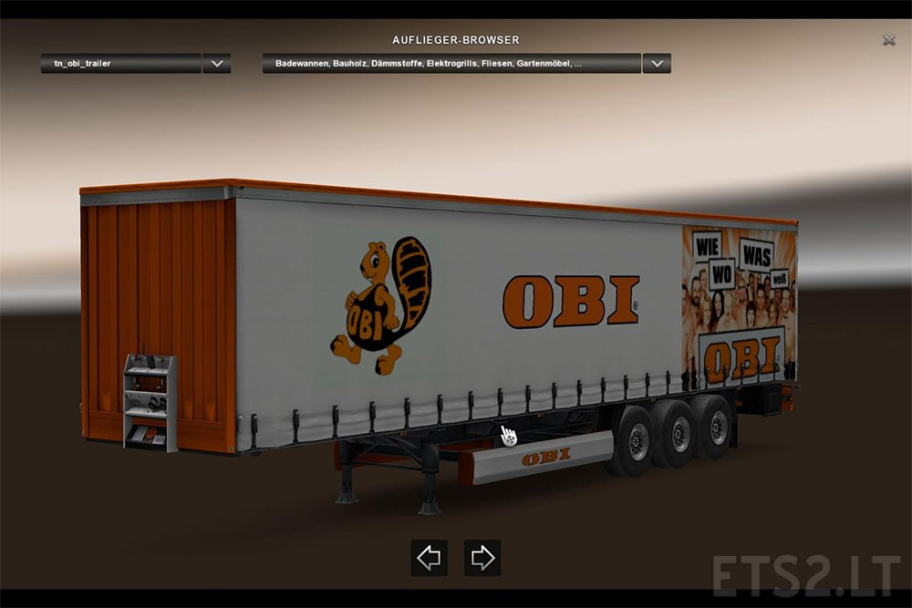 obi trailer skin 22 new cargoes german version ets 2. Black Bedroom Furniture Sets. Home Design Ideas