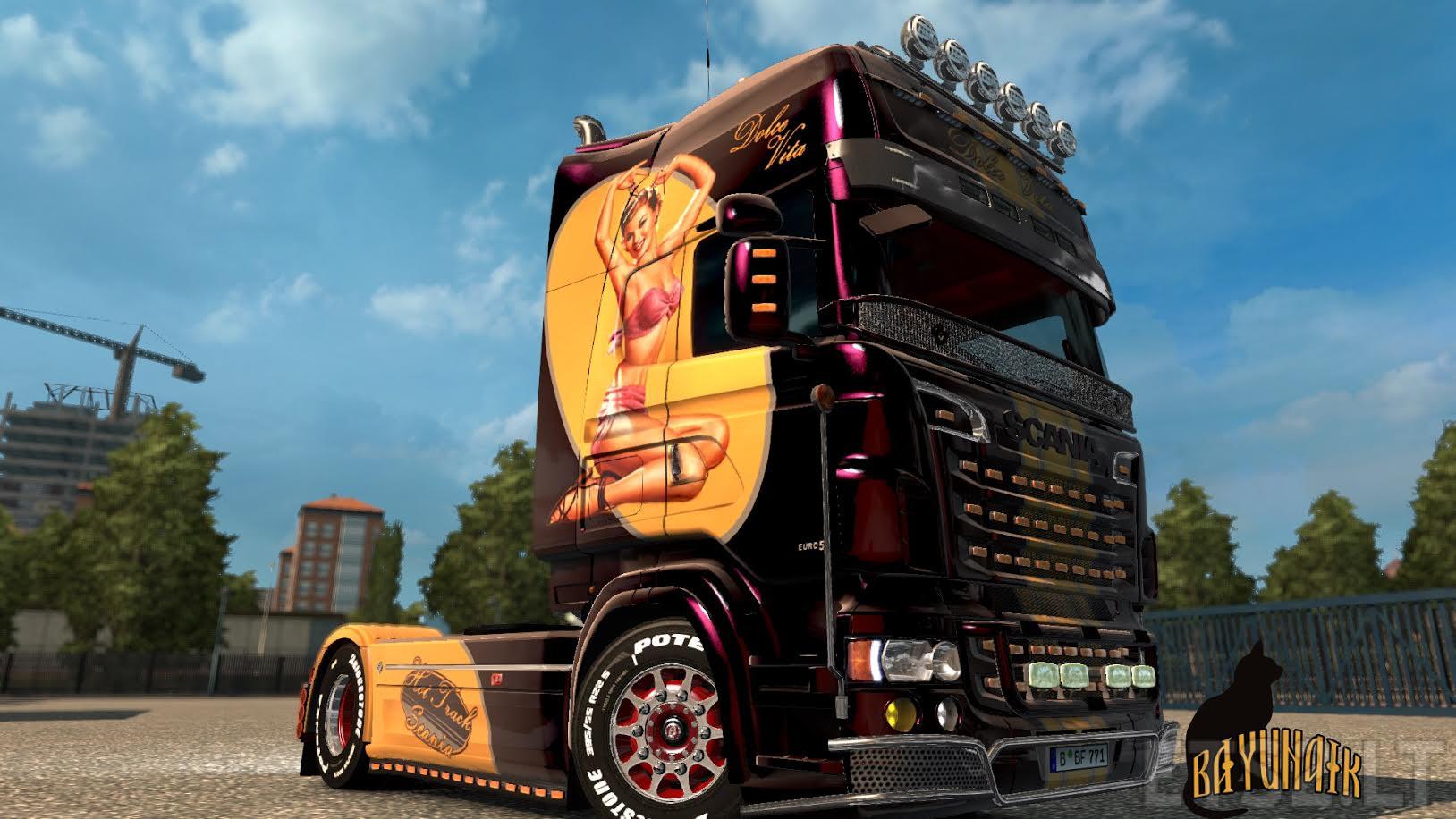 Scania R&S Topline Dolce Vita Skin | ETS 2 mods
