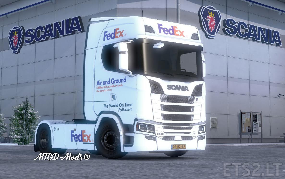 fedex scania s series by mtgd mods ets 2 mods. Black Bedroom Furniture Sets. Home Design Ideas