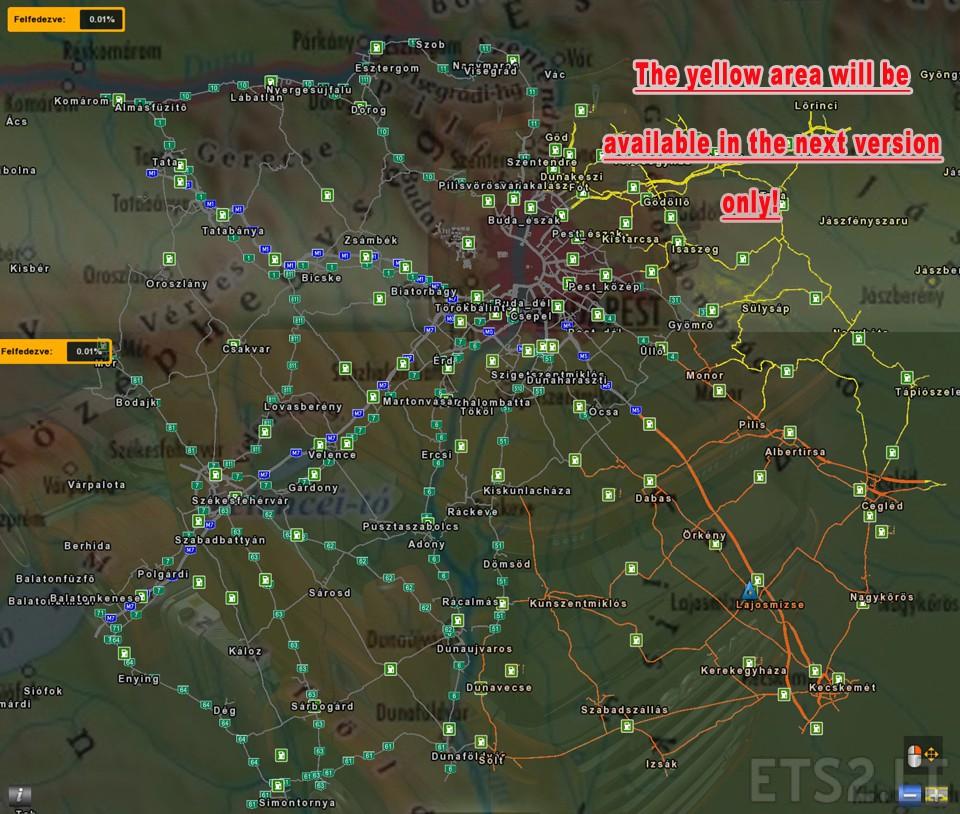 euro truck simulator 2 magyarország térkép hungary map | ETS 2 mods euro truck simulator 2 magyarország térkép