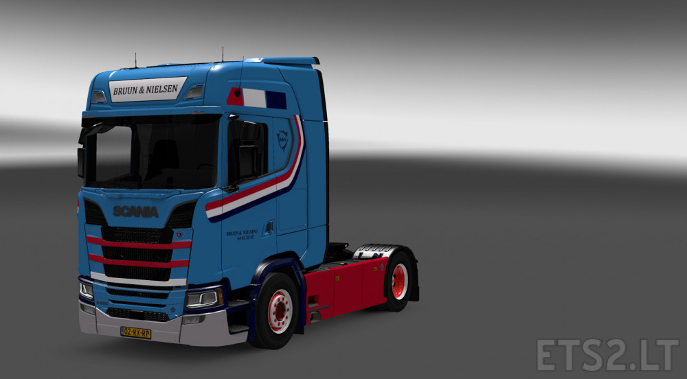 bruun nielsen scania s series skin truck by lars grave. Black Bedroom Furniture Sets. Home Design Ideas