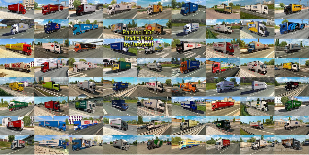 Painted BDF Traffic Pack by Jazzycat v1 5 | ETS 2 mods