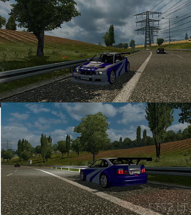 BMW M3 E46 + M3 E46 GTR v 1 0   ETS 2 mods