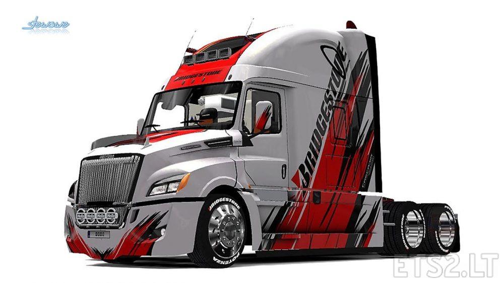 Freightliner Cascadia 2018 Bridgestone Skin | ETS 2 mods