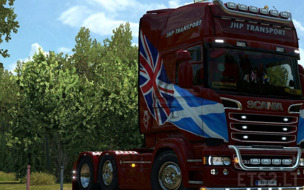 Scania RJL JHP Transport Skin | ETS 2 mods