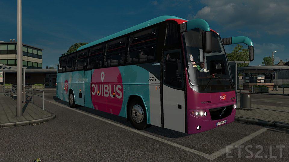 Ouibus Skin for Volvo B12B TX | ETS 2 mods