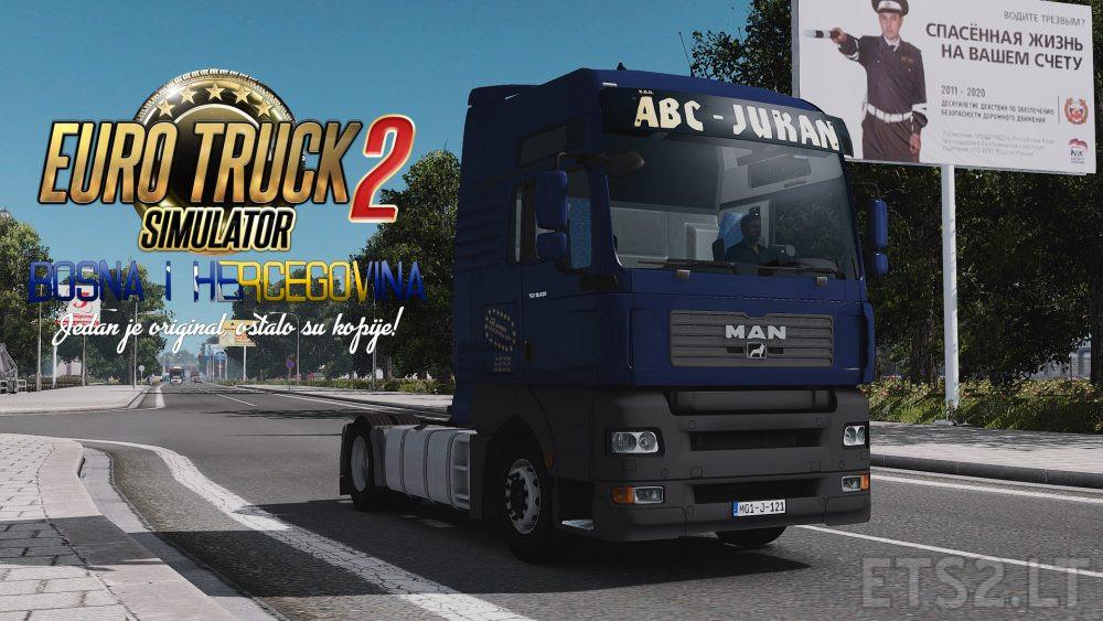 ABC Jukan MAN TGA Blue Skin | ETS 2 mods