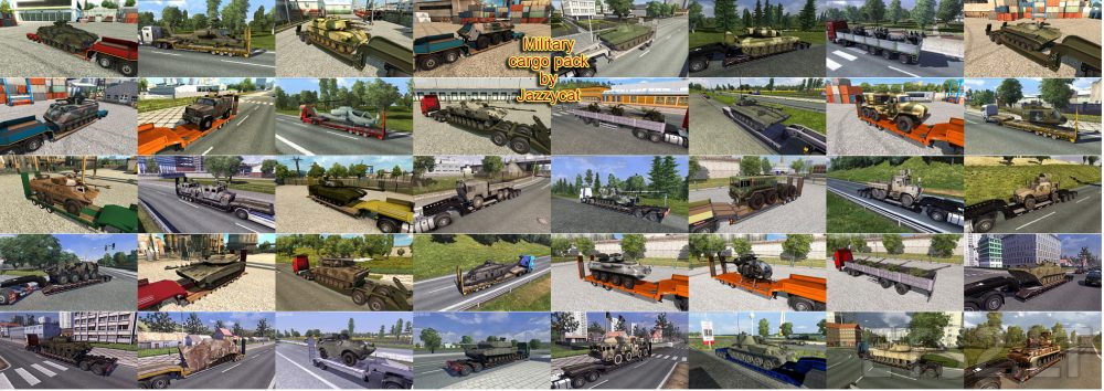 Military Cargo Pack by Jazzycat v 2 3 1 | ETS 2 mods